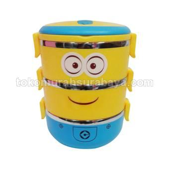 555 SA Lunch box Rantang susun 3 Minion